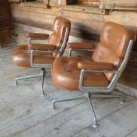 pair of original charles eames lobby chairs