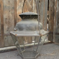 early C19 copper and iron lantern from provence