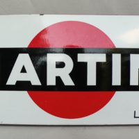 1960 s martini enamel sign