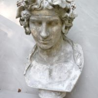 large plaster bust of the lansdowne antinous