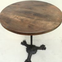 table bistrot  empire  pieds griffes