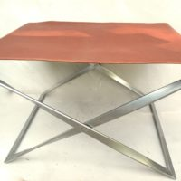 poul kjaerholm pk91 folding stool EKC stamp and early stepped counts