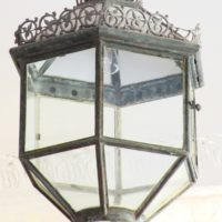 pair of early 19th century hanging  lanterns